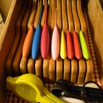 Komachi Knives in drawer