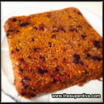 Spiced Pumpkin Oatmeal Bar before cutting