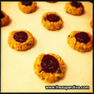 Foodie Monday:  No Bake Chocolate Chip Coconut PB & J Thumbprint Cookies